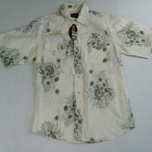 Roper Shirt Size Medium Ivory Floral Man's
